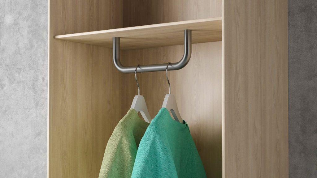 u-form Garderoben- Kleiderstange U-Form Edelstahl U-Garderobenbügel