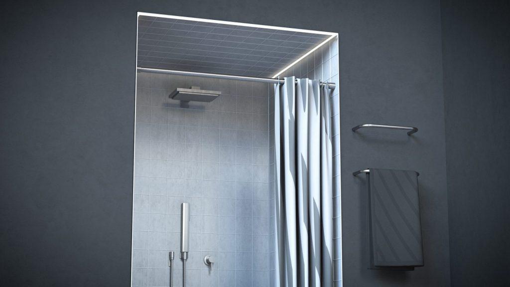 Duschstange gerade Form Edelstahl hochglanz poliert matt gebürstet