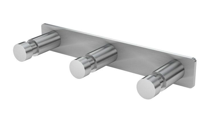 Hakenleiste mit 3 Haken Edelstahl matt gebürstet schwarz weiß poliert