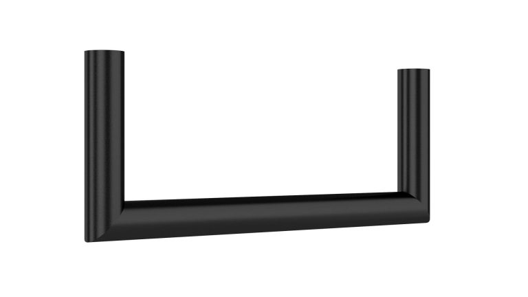 Garderobenbügel U-Form in schwarz matt d=25mm