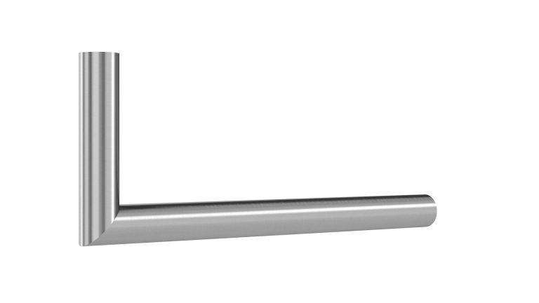Garderoben L-Bügel Rundrohr auf Gehrung matt gebürstet Artikel 1025.301.10 L