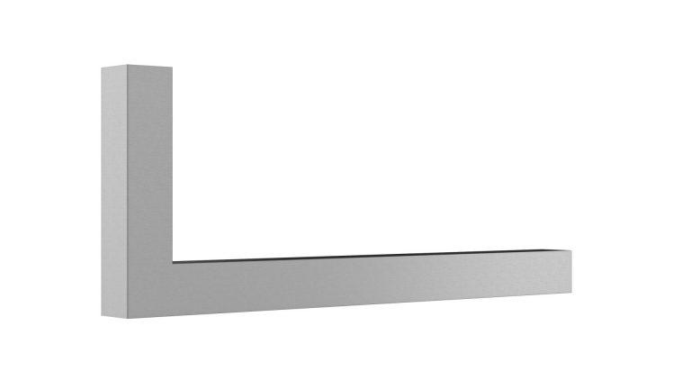 Garderoben L-Bügel Vierkant matt gebürstet Artikel 1025.302.10 L