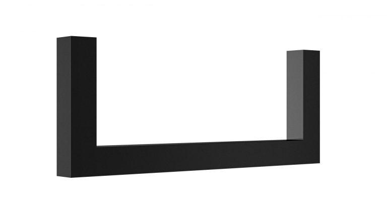 Garderoben U-Bügel Vierkant auf Gehrung schwarz matt beschichtet Artikel 1025.302.11 L