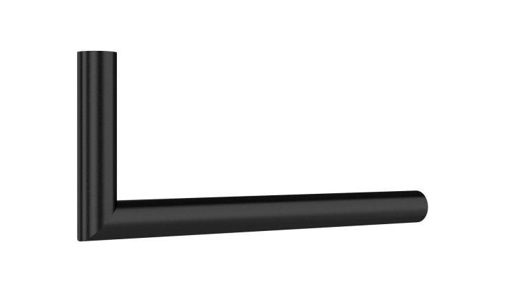 Garderoben L-Bügel rund auf Gehrung schwarz matt beschichtet Artikel 1025.301.11 L